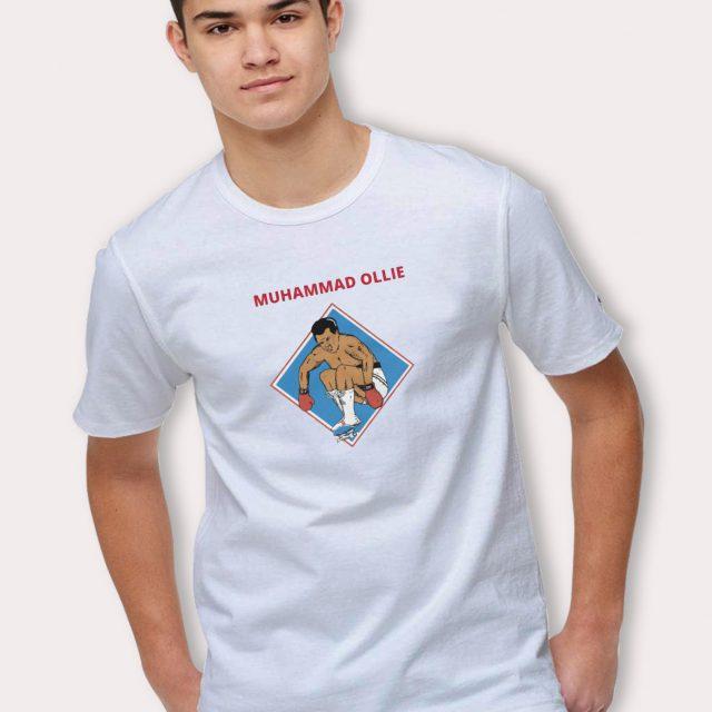 Funny Muhammad Ollie Skateboard T Shirt