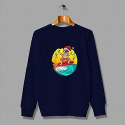 Funny Santa Claus Skate Cheap Summer Sweatshirt