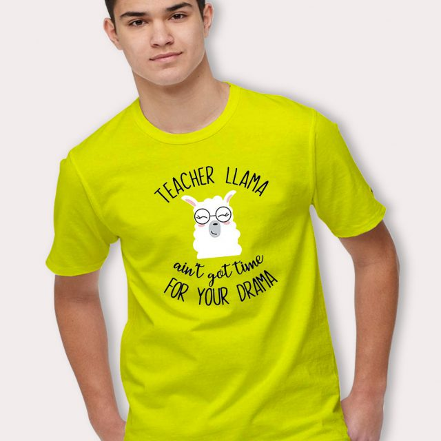 Funny Teacher Llama For Your Drama T Shirt