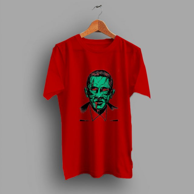 Funny Zombie Obama Gift Idea Halloween T Shirt