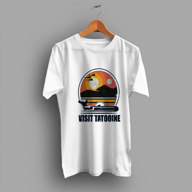 Land Speeder Visit Tatooine Scifi Geek T Shirt