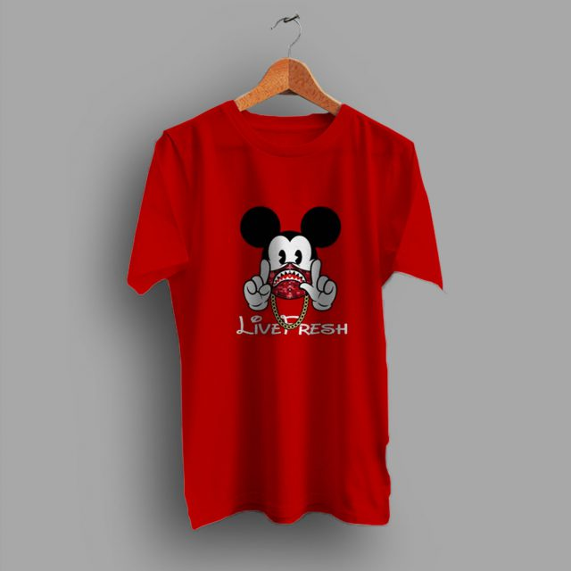 Live Fresh Mickey Mouse Urban T Shirt