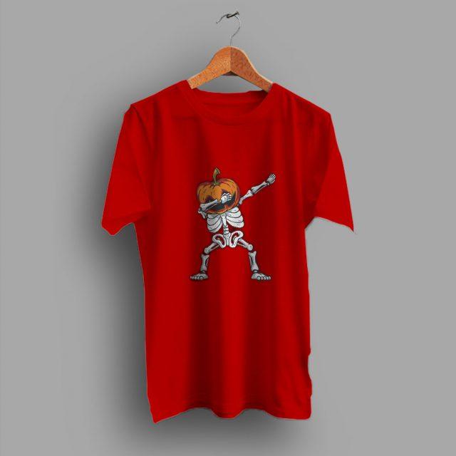 Right Dabbing Skeleton Pumpkin Halloween T Shirt