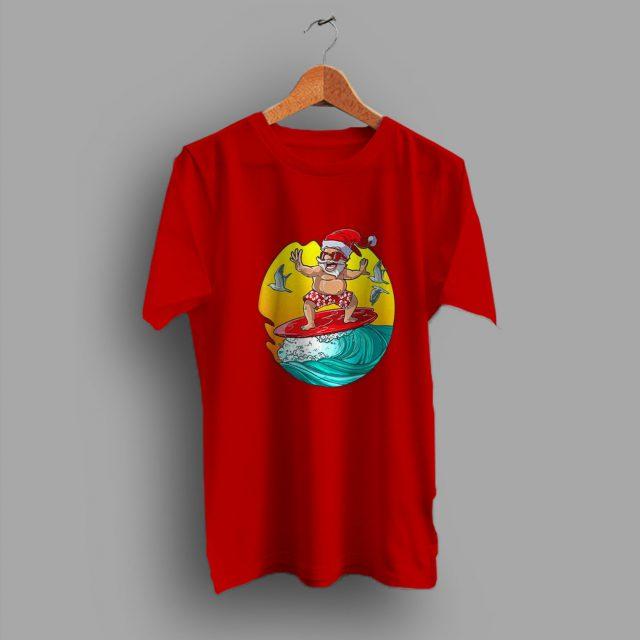Santa Surf Hawaiian Summer Family T Shirt