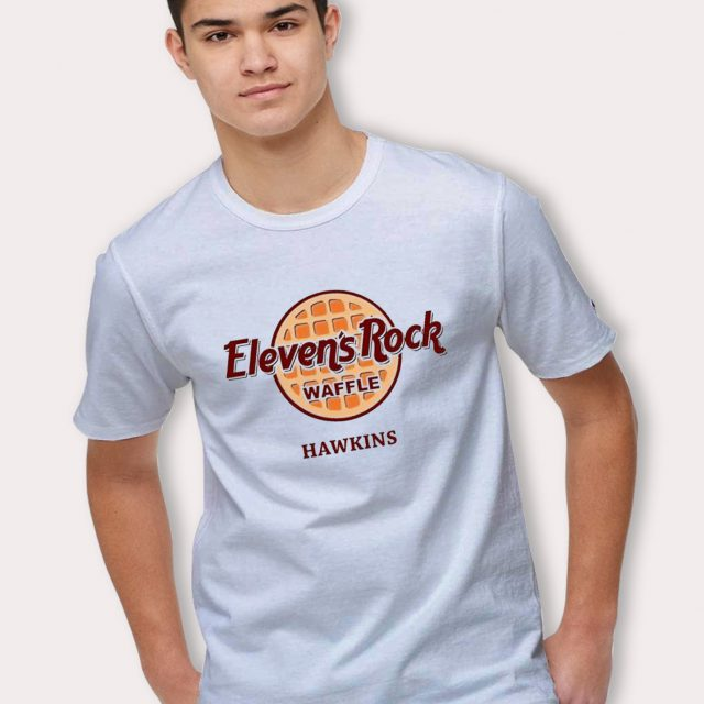 Stranger Things Eleven Waffle Hawkins School T Shirt