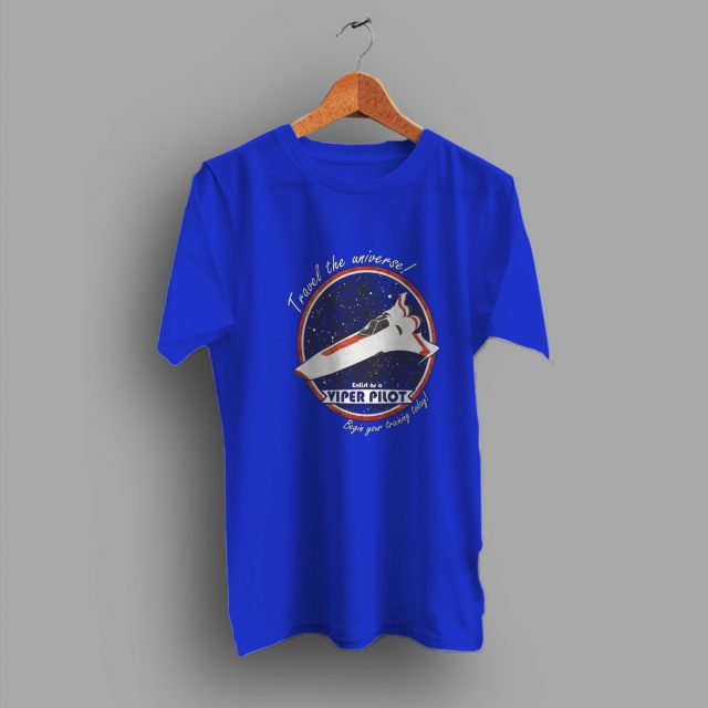 Travel The Universe Viper Pilot Geek T Shirt