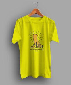 West Coast Hipster Golden State California 80s T Shirt