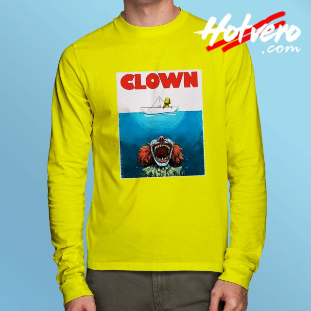 Clown Jaws Halloween Parody Long Sleeve T Shirt