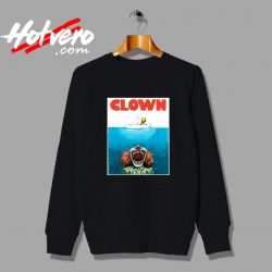 Clown Jaws Halloween Parody Sweatshirt