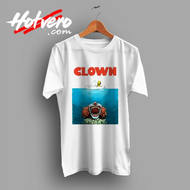 Clown Jaws Halloween Parody T Shirt
