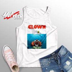 Clown Jaws Halloween Parody Tank Top
