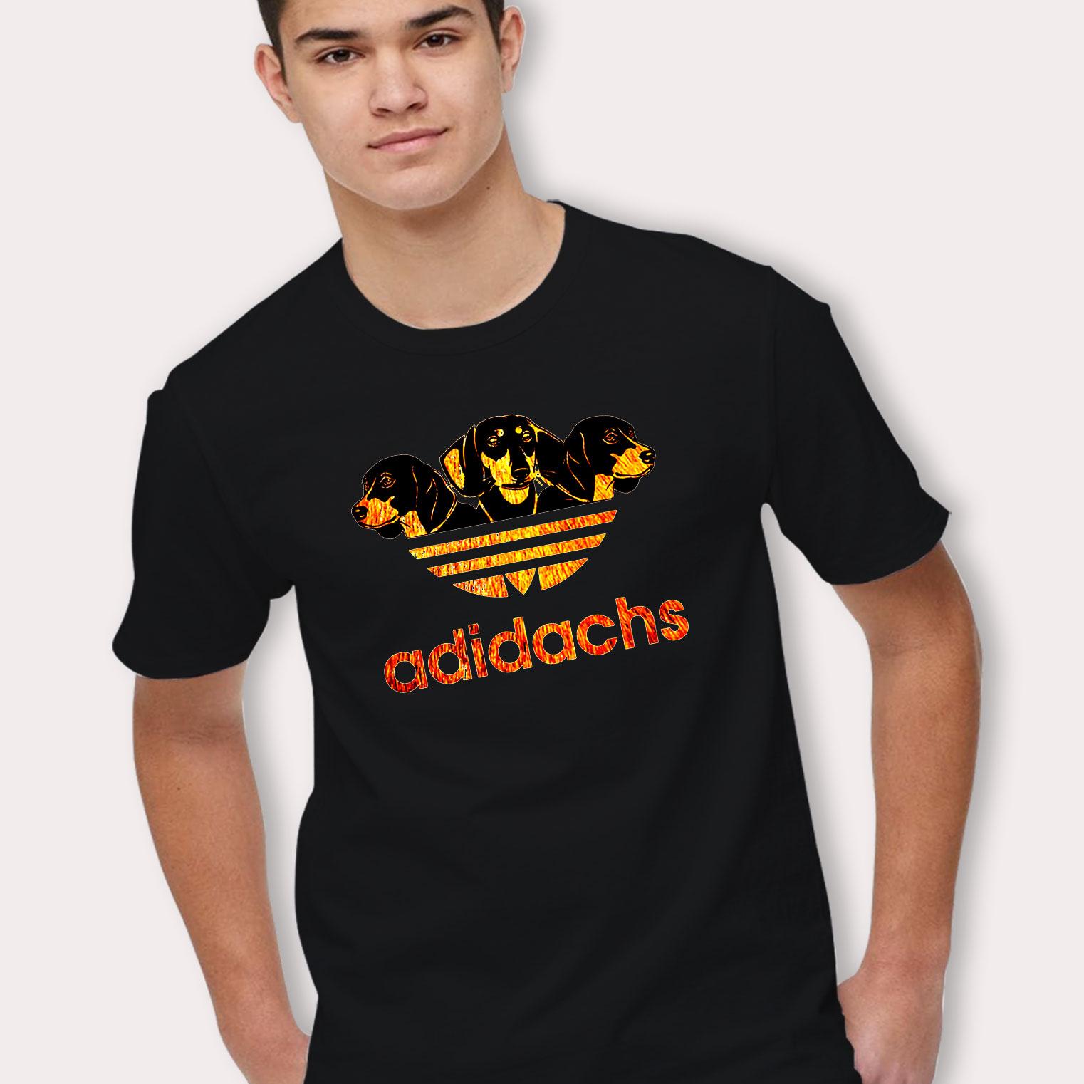 gran descuento la mejor calidad para conseguir baratas Cute Adidachs Adidas Dog Parody T Shirt - Hotvero