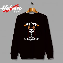 Cute Alpaca Happy Llamaween Halloween Graphic Sweatshirt