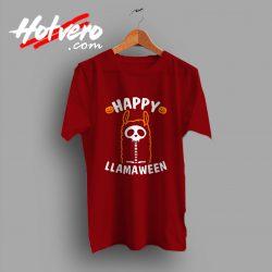 Cute Alpaca Happy Llamaween Halloween T Shirt