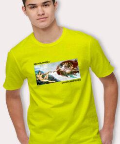 Cute Michelangelo Creation Of Adam T Shirt