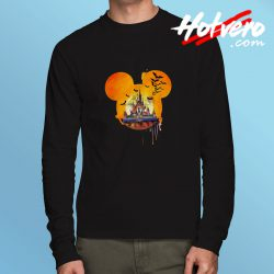 Disney Halloween Castle Long Sleeve T Shirt