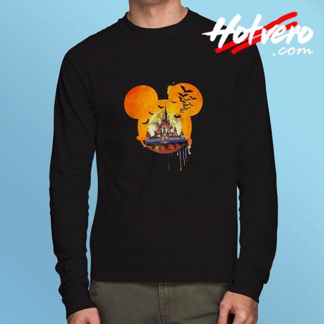 Disney Halloween Castle Long Sleeve T Shirt