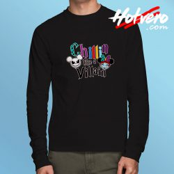 Disney Jack Skellington Chillin Like A Villain Long Sleeve Tee