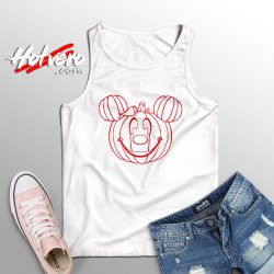 Funny Disney Mickey Mouse Pumpkin Halloween Tank Top
