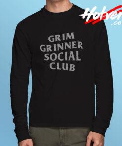 Grim Grinner Social Club Haunted House Long Sleeve T Shirt