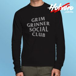 Grim Grinner Social Club Haunted House Long Sleeve T Shirt