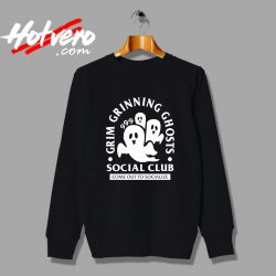 Grim Grinning Ghost Social Club Halloween Sweatshirt