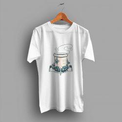 Satisfied Unique Robot Coffee Urban T Shirt