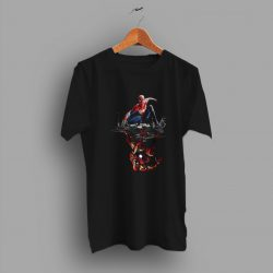The Iron King Marvel Avengers Spider Man IRon Man Funny T Shirt
