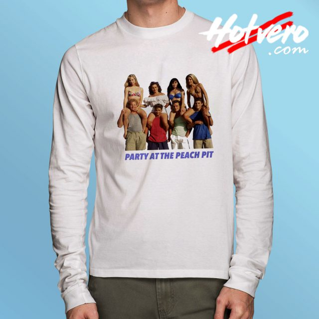 Vintage BH90210 Party At The Peach Pit Long Sleeve T Shirt