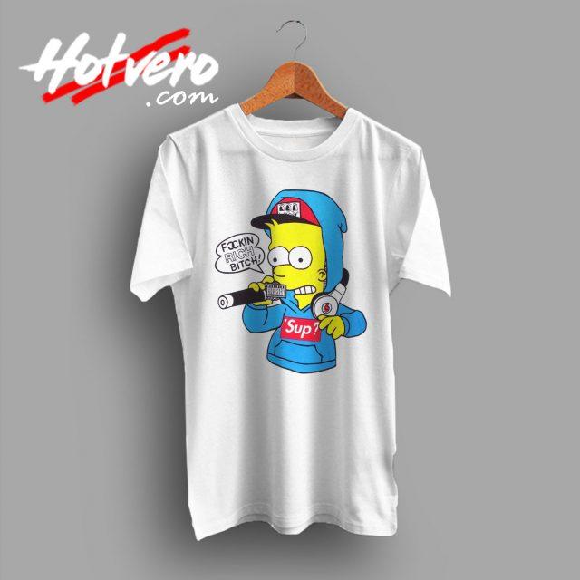 Bart Simpson FuCCkin Rich Bitch Vintage T Shirt