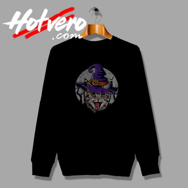 Cat Witch Halloween sweatshirt