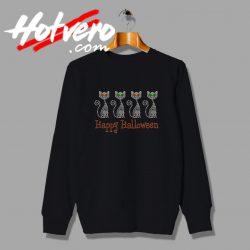 Cats Happy Halloween RHINESTONE sweatshirt
