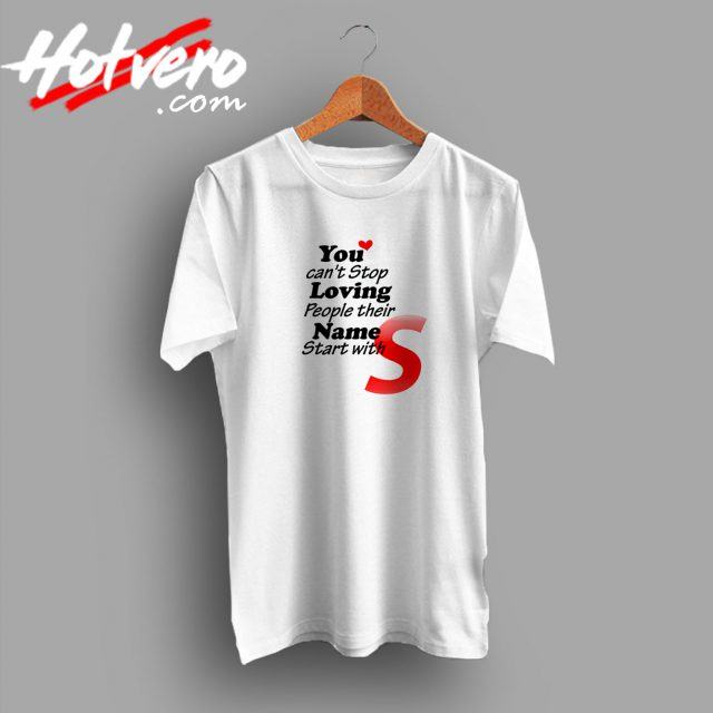 Letter Your Name S T Shirt