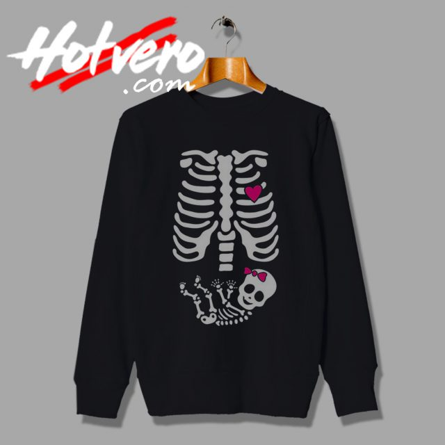 Skeleton Baby Girl Halloween Sweater Crewneck Sweatshirt