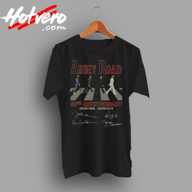 The Beatles Abbey Road 50th Anniversary T Shirt